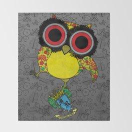 Printed Owl Throw Blanket