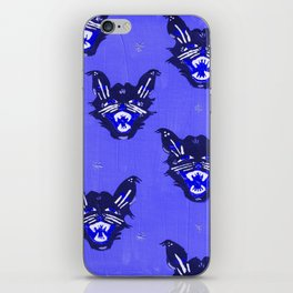 Blue Halloween Black Cats iPhone Skin