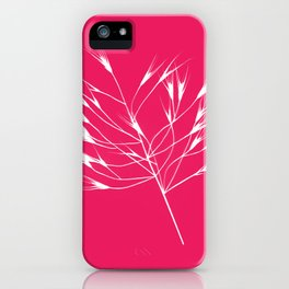 Beautiful pink weeds iPhone Case