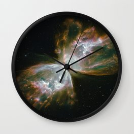 The Butterfly Nebula Wall Clock