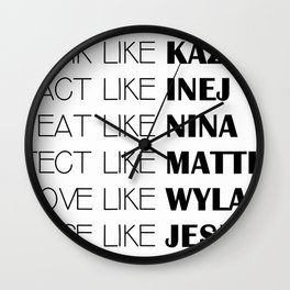 six of crows Wall Clock