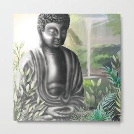 Pure Meditation, Yoga Practice, Zen Garden Metal Print