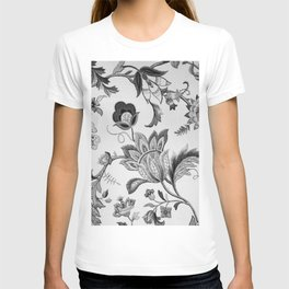 Floral Black and White T-shirt