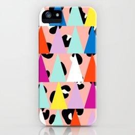 Triangle Animal Print in Blush iPhone Case