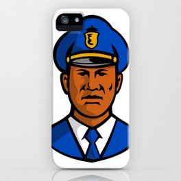 African American Policeman Mascot iPhone Case