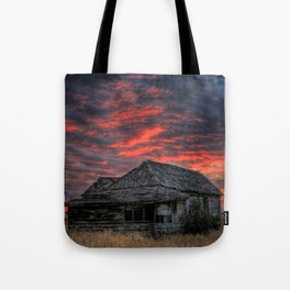 Shake House in Sunset Tote Bag
