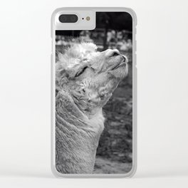 Llama joy Clear iPhone Case