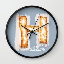 Halloumi cheese Wall Clock