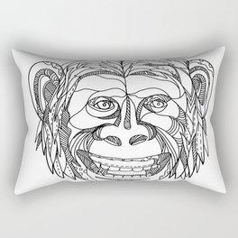 Humanzee Smiling Doodle Rectangular Pillow