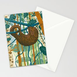 Pangolin Forest Stationery Cards