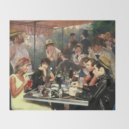 Renoir's Luncheon of the Boating Party & Grease Throw Blanket