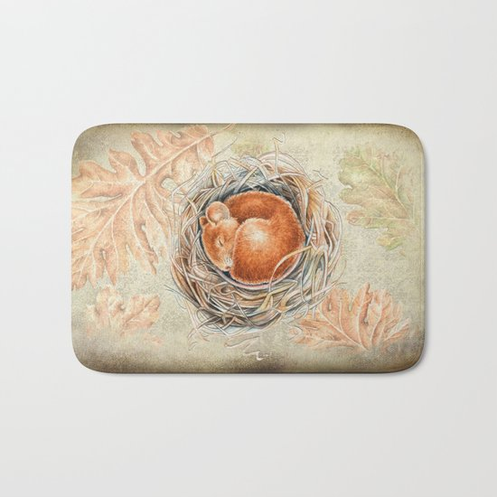 Mouse in the nest Bath Mat