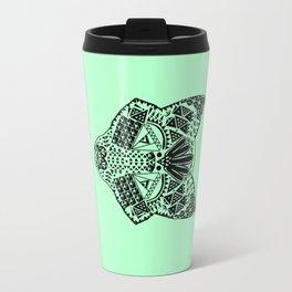 Mint Wolf Head Travel Mug