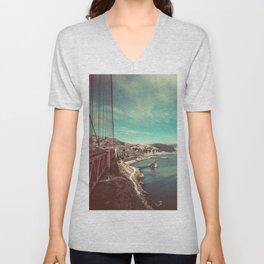 San Francisco Bay from Golden Gate Bridge Unisex V-Neck