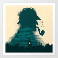 sherlock holmes Art Prints featuring Sherlock Holmes by Electra
