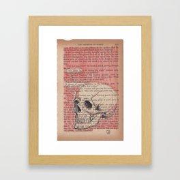 Book Page Art: Avarice Framed Art Print