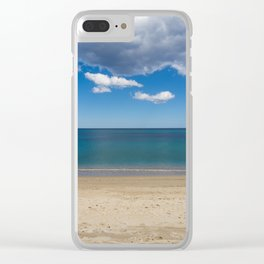 Stripes of blue Clear iPhone Case