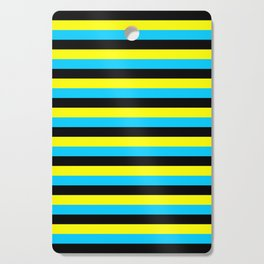bahamas flag stripes Cutting Board