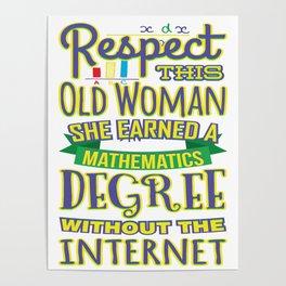 Respect This Woman Mathematics Degree Poster