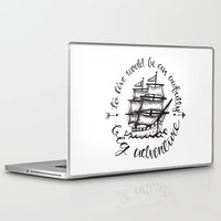 captain hook Laptop & iPad Skins featuring Hook by Corina Rivera Designs