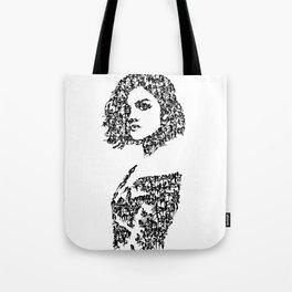 Kanji Calligraphy Art :woman's face #36 Tote Bag