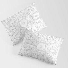 Grey Threads Mandala Pillow Sham