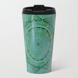 Green Swirl Mandala II Travel Mug