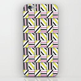 symetric tartan and gingham 2 -vichy, gingham,strip,square,geometric, sober,tartan iPhone Skin