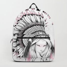 Indian Headdress Pink Version Backpack