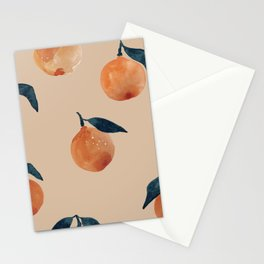 Spring Clementine Home Decor Oranges by Erin Kendal Stationery Cards