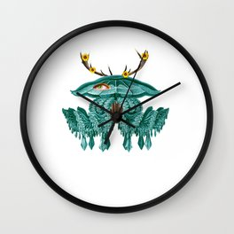 Jellyfish Surreal Collage Wall Clock