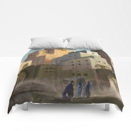 Fantasy Moroccan City Comforters