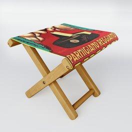 Vintage Parmigiano Reggiano Bertozzi Cheese Advertisement Wall Art Folding Stool