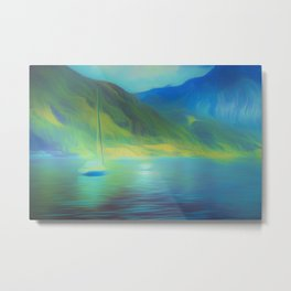 The Mystical Mountain Lake Metal Print
