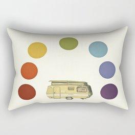 We Camped Beneath a Rainbow Rectangular Pillow