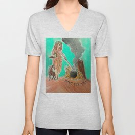 Druid Servant  Unisex V-Neck