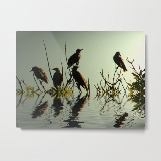 Starling Sunset Metal Print