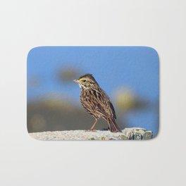 Male Savannah Sparrow Bath Mat