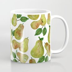 Watercolor Pears - repeat pattern Coffee Mug