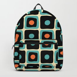 Mid Century Square Dot Pattern 4 Backpack
