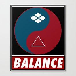 Samurai Balance Canvas Print