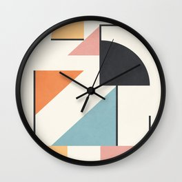 Clean Flow Geometry 3 Wall Clock