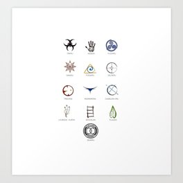 The 100 - 13 Clans Art Print