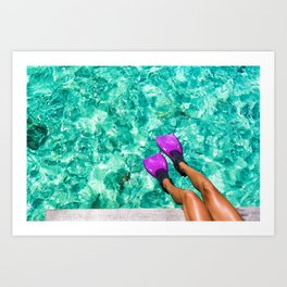Vacation in the Maldives for the winter holidays Art Print