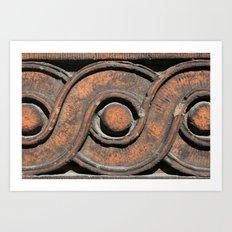 Guilloche Architectural Detail  Art Print