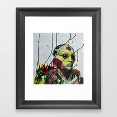 Thane Krios Mass Effect Portrait Framed Art Print
