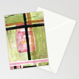 Antigua in Green -  Latin America Abstract Watercolor Series Stationery Cards
