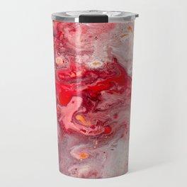 Pink & Red Abstract Painting Travel Mug