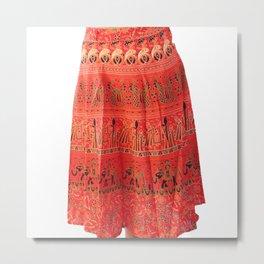 Elephant Printed Skirt for Girls Metal Print