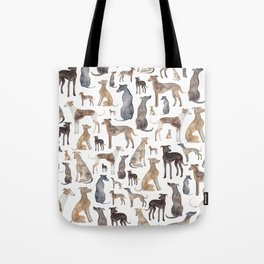 Greyhounds and Whippets Tote Bag